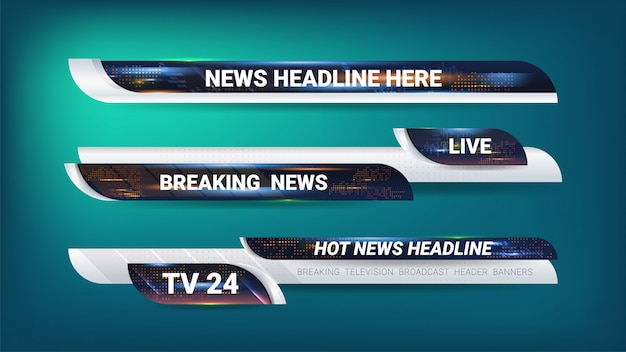 Tags and banner for news broadcasting