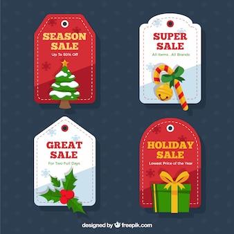 Tag confezione di vendita christmas super