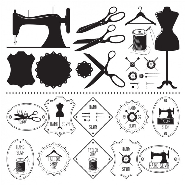 sewing vectors photos and psd files free download rh freepik com free clipart sewing notions free clipart sewing needle and thread