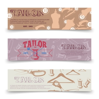 Tailor horizontal banners template