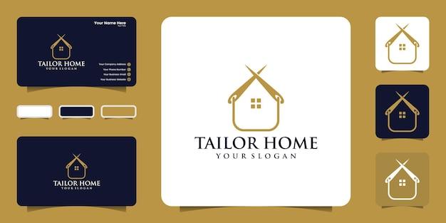 재단사 집 로고 디자인 영감과 명함