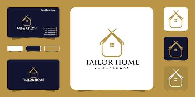 Tailor house logo design inspiration and business card