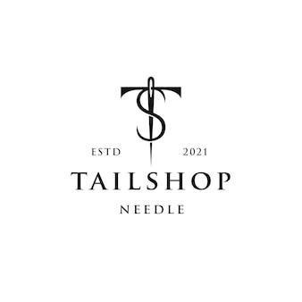 Tailor shop logo template