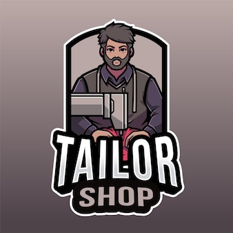 Tailor shop logo template