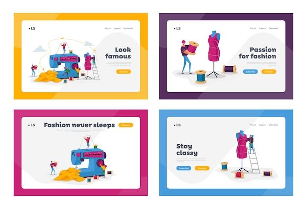 Набор шаблонов целевой страницы для бизнеса tailor textile craft business