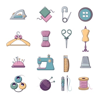 Tailor tools icons set