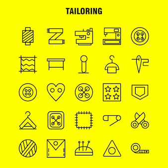 Tailoring line icon pack
