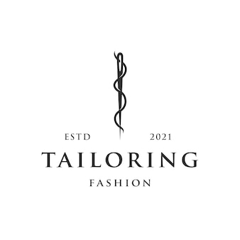 Tailoring needle logo template