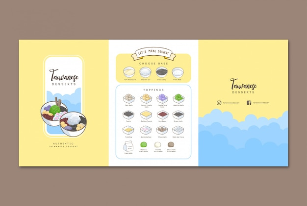 Taiwanese dessert handdrawn menu