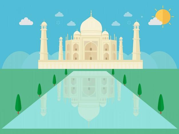 Taj mahal an ancient palace in india