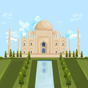 Taj mahal india building attraction