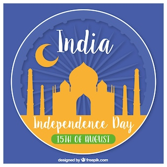 Taj mahal india independence background