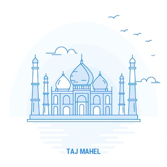 Taj mahel blue landmark