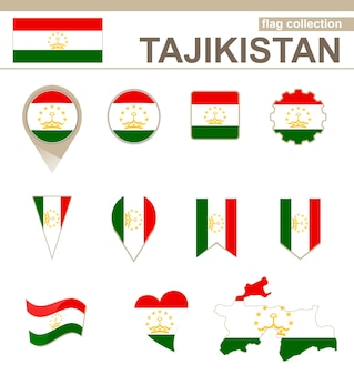 Tajikistan flag collection, 12 versions