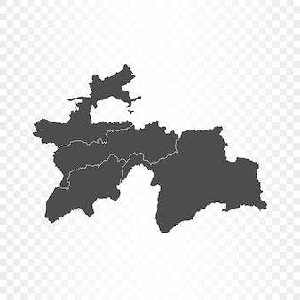 Tajikistan map isolated rendering
