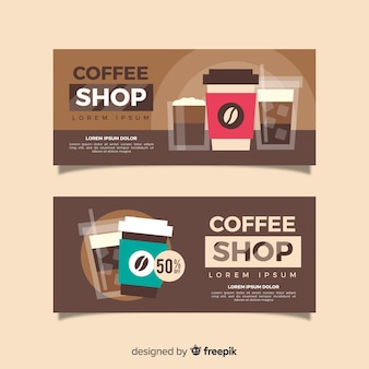 Take away coffee banner