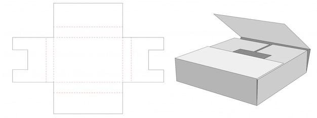 Take away packaging box die cut template design