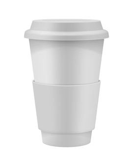 Take away paper  cup with cap