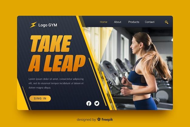 Take a leap sport landing page