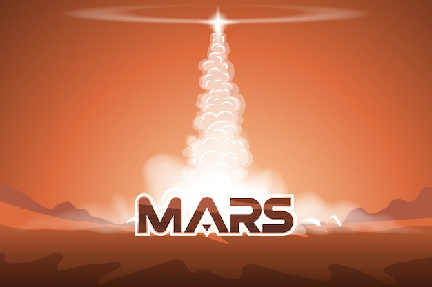 Take off the shuttle from mars.