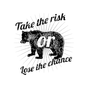 Take the risk or lose the chance vector