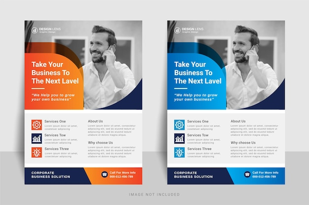 Take your business to the next level business flyer template