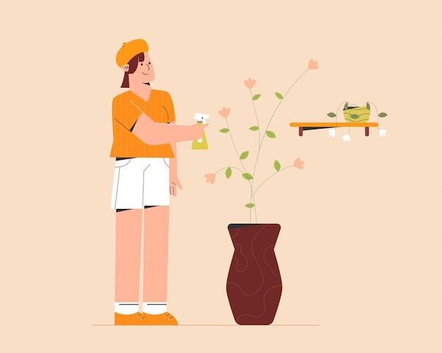 식물 관리 프리미엄 벡터