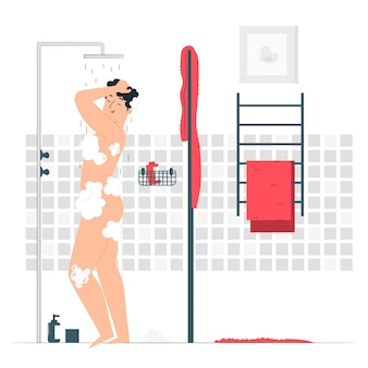 シャワーの概念図を取る