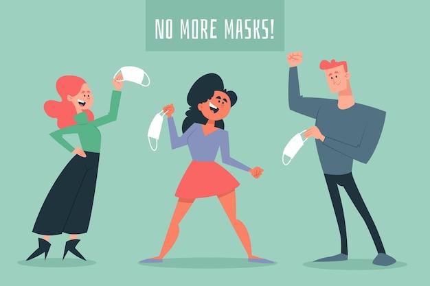 Togliere la maschera
