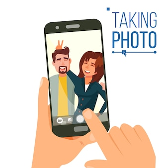 Taking photo on smartphone