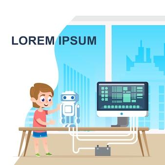 Talent school boy programming robot digital course