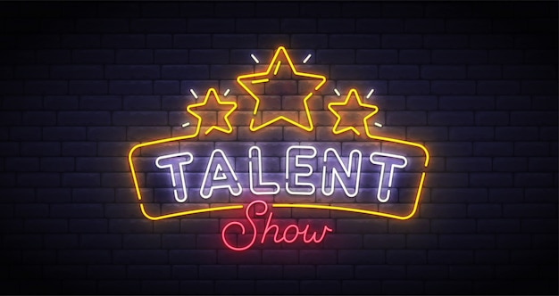 Talent show neon sign
