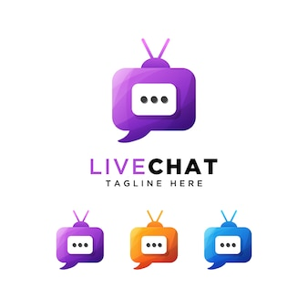 Talk chat or live chat logo