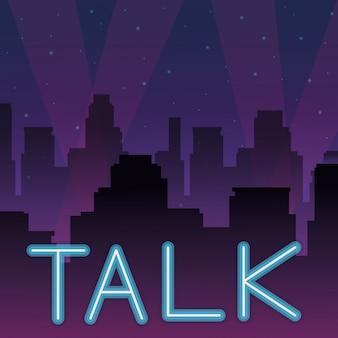 Talk neon advertising