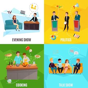 Talk show scene set