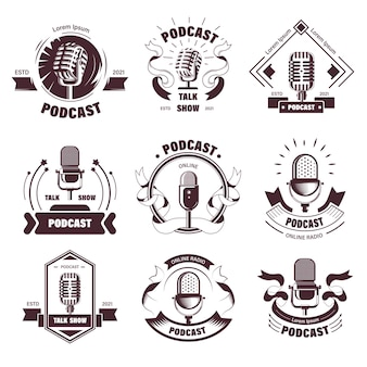 Логотипы ток-шоу и подкастов станций