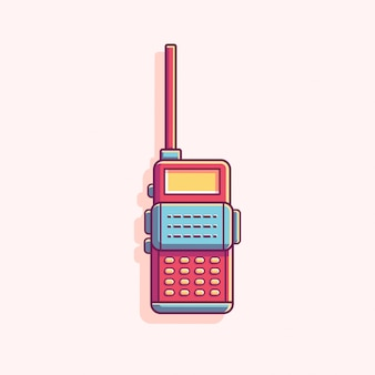 Talkie walkie flat vector illustration