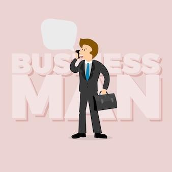 Talking business men