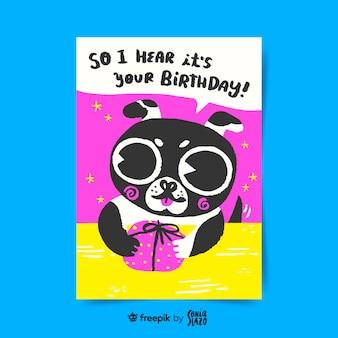 Talking dog birthday greeting card