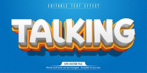 Talking text, cartoon style editable text effect
