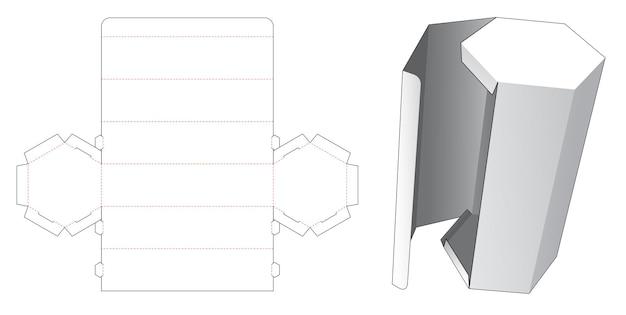 측면 플립 다이 컷 템플릿이있는 높이 육각형 포장