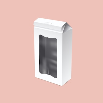 Макет упаковки высокого дома