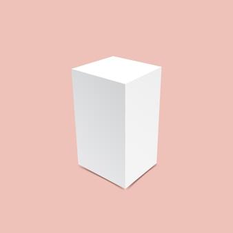 Макет высокой упаковочной коробки
