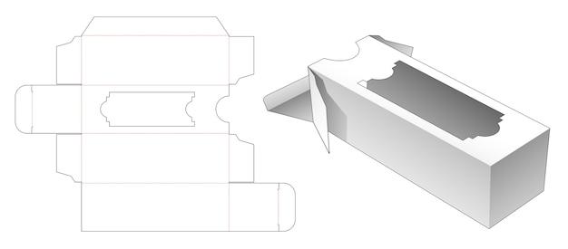 ウィンドウダイカットテンプレート付きの背の高いパッケージ