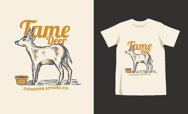 길들인 사슴 tshirt 디자인