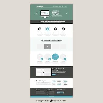 シンプルなウェブサイトのtamplate