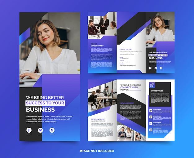 企業のミニマリストのモダンな多目的ビジネスパンフレットプレミアムtamplate