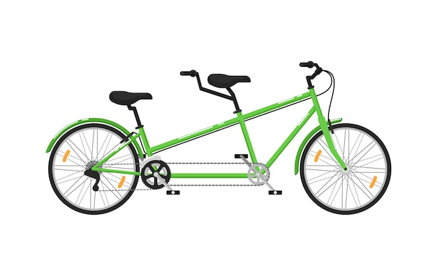 Tandem city bicycle isolated icon