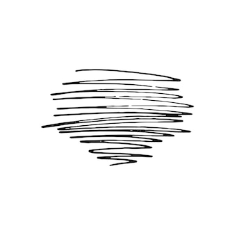 Tangled abstract scribble with hand drawn line. doodle elements. isolated sketch on white background. vector illustration