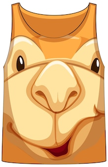 Canotta con faccia di fantasia cammello